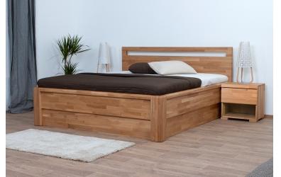 Nočný stolík SOFIA & FLORENCIA 1 zásuvkový pravý dub cink