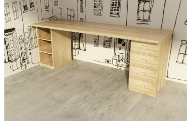 Doska pre písací stôl 1920 mm, buk cink