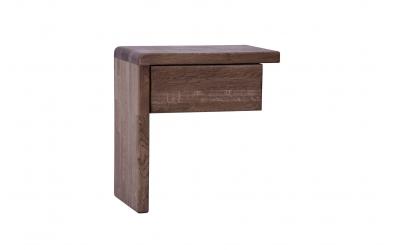 Nočný stolík FANTAZIA ľavý dub cink