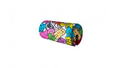 Textília chránič guľatý krátky Comics farebný