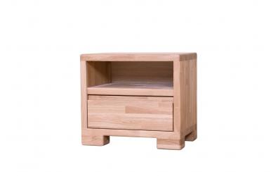 Nočný stolík IMPERIA  1 zásuvka dub cink