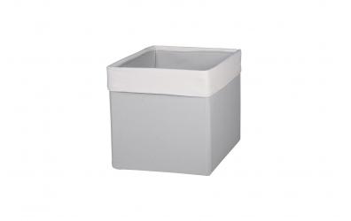 Textilný box do regálu SKANDI - krémovo šedý