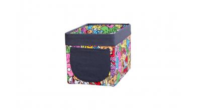 Textilný box do regálu COMICS - farebný