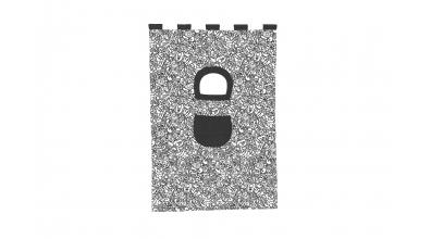Závesná textília COMICS palanda nízka - čiernobiela