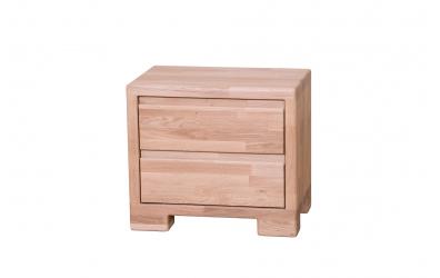 Nočný stolík IMPERIA  2 zásuvky dub cink