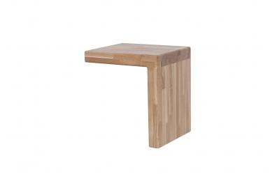 Nočný stolík IMPERIA dub cink
