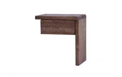 Nočný stolík FANTAZIA pravý dub cink