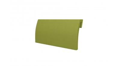 Čalúnená opierka hlavy - oblá zelená