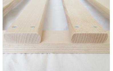Posteľový rošt latkový v ráme 120x200 cm, výška 4,5 cm, buk