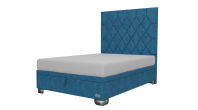 Čalouněná postel boxspring výklop Maxi RHOMBUS, 140x200, MATERASSO