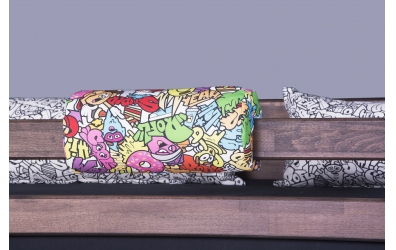 Textília chránič guľatý Comics farebný