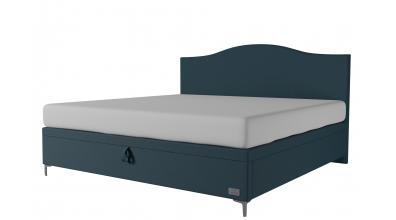 Čalouněná postel boxspring výklop Maxi NAVY, 200x200, MATERASSO