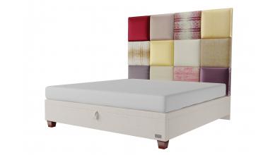 Čalouněná postel boxspring výklop Maxi PARIS, 200x200, MATERASSO
