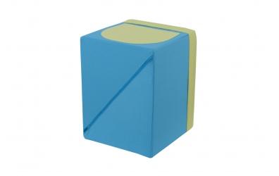 Textilný box do regálu - tyrkysovo zelený