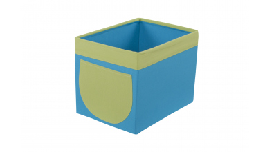 Textilní box do regálu tyrkysovo zelený