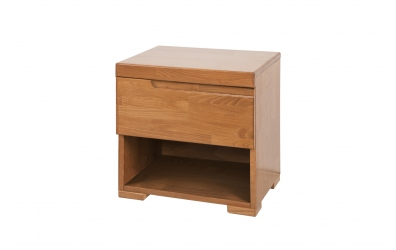 Nočný stolík SOFIA & FLORENCIA 1 zásuvkový ľavý buk cink