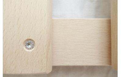 Posteľový rošt latkový v ráme 90x200 cm, výška 4,5 cm, buk