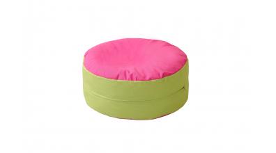 Sedací vankúš - ružovo/zelený