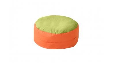 Sedací vankúš  - zeleno oranžový