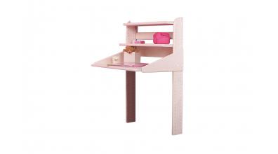 Závesný písací stôl, buk cink