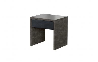 Čalouněný noční stolek DARK STONE, MATERASSO