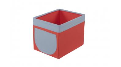 Textilný box do regálu - tehlovo šedý