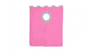 Závesná textília palanda nízka - ružovošedá