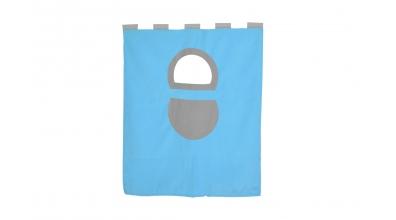 Textília 7 vrecko - palanda nízká 1610 mm tyrkysovo/šedá