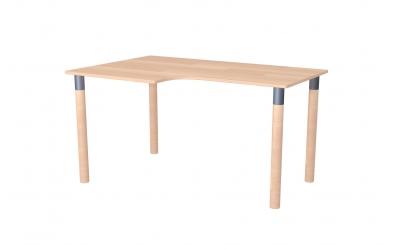 Písací stôl ERGO maxi ľavý buk cink