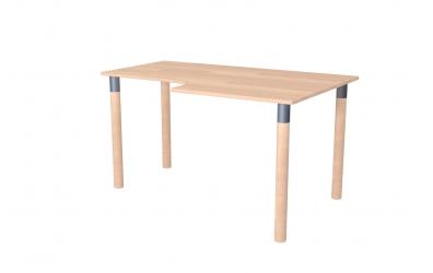 Písací stôl ERGO maxi pravý buk cink
