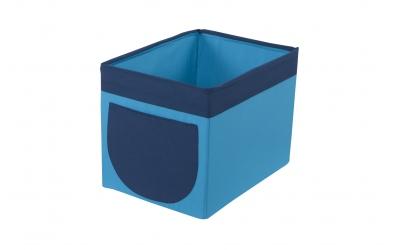 Textilný box do regálu - tyrkysovo modrý