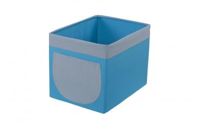 Textilný box do regálu - tyrkysovo šedý