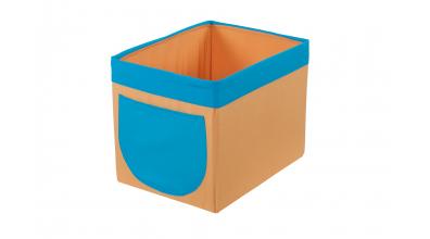 Textilný box do regálu - žlto tyrkysový