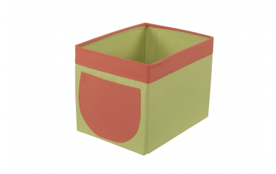 Textilný box do regálu - zeleno oranžový