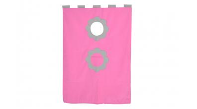 Závesná textília palanda ružovošedá