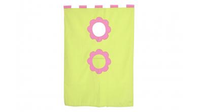 Závesná textília palanda ružovozelená