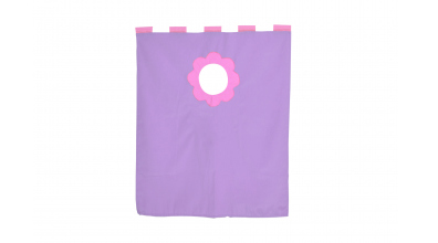Závesná textília palanda nízka - fialová