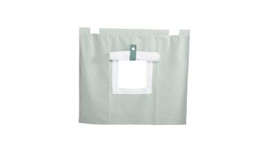 Závesná textília PASTEL pod zvýšené jednolôžko - mentolová