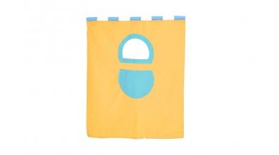 Textília 7 vrecko - palanda nízká 1610 mm žlto/tyrkysová