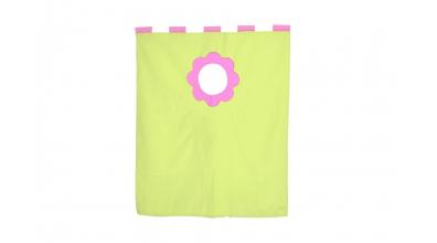 Závesná textília palanda nízka - ružovozelená