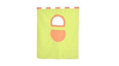 Textília 7 vrecko - palanda nízká 1610 mm zeleno/oranžová