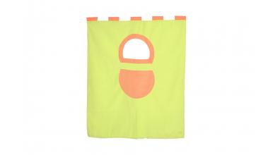 Závesná textília palanda nízka - zelenooranžová