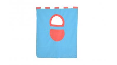 Textília 7 vrecko - palanda nízká 1610 mmtyrkysovo/červená