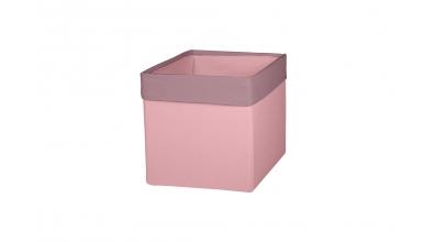 Textilný box do regálu - PASTEL ružový
