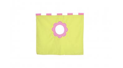 Závesná textília pod zvýšené jednolôžko - ružovo zelená