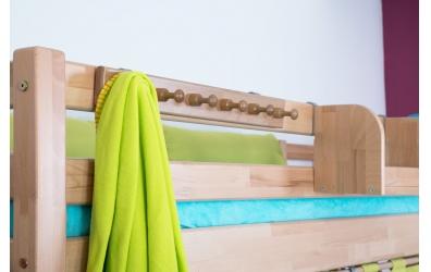 Závesný vešiak na posteľ buk cink
