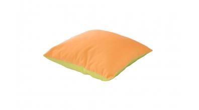 Vankúš  štvorec  zeleno/oranžový