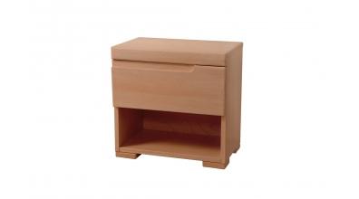 Nočný stolík SOFIA & FLORENCIA 1 zásuvkový pravý buk cink