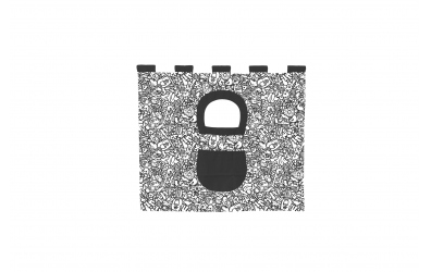 Textília 5 COMICS - zvýšené jednolôžko 1175 mm  čiernobiely