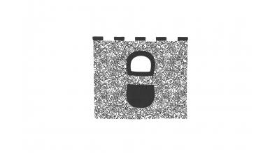 Závesná textília pod COMICS zvýšené jednolôžko - čiernobiely